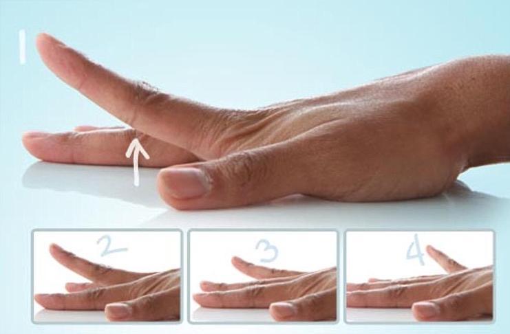 Поднимать пальцы