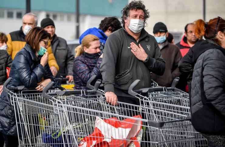В Италии коронавирус