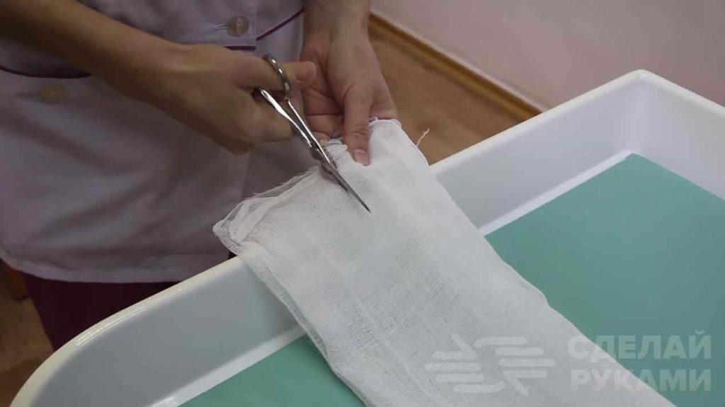 Как сшить марлевую повязку