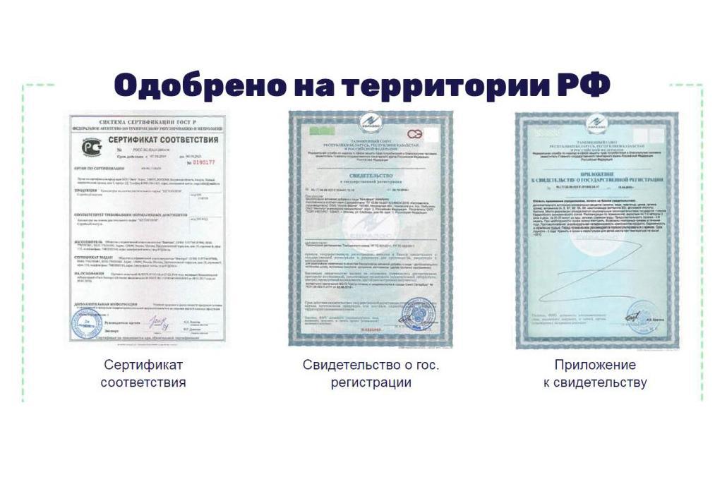 Сертификаты Кетоформ